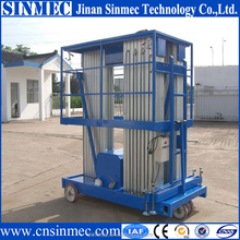 Sinmec indoor vertical aluminum ladder/single person lift for constraction site