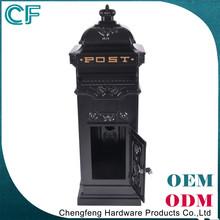 Made In China Lion Ornament Black Antique Cast Aluminum Mailbox