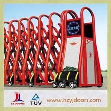 Electric sliding driveway wrought iron fence folding gate design