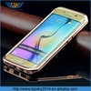 2015 hot sale Crystal Rhinestone Diamond Bling Metal Bumper + Sliding PC backcover mobile phone Case for galaxy s3/s4/s5/s6