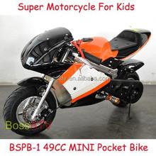 CE 49cc Kids Pocket bike Mini Pit Bike With Emergency Stop system