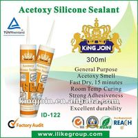 100% Silicone Rubber Fast Curing Window Glass Ceramics Installation Acetoxy Silicone Sealant (SGS,REACH)