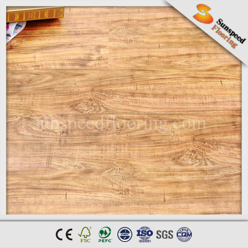Water rated quick lock crystal surface laminate flooring for Best rated laminate flooring