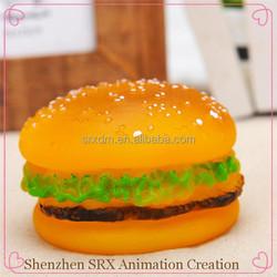 custom hamburger shaped dog pet cat puppy chew toy,custom hamburger chew squeaky toy for dog, plastic dog pet chew toy