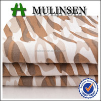 Keqiao textile woven cotton sateen camouflage fabric with military print