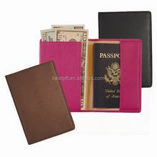 Fashion simple model cow leather passport case
