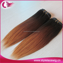 Wholesale straight fusion extension ombre color hair extensions