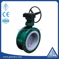 double flange butterfly valve covered ptfe