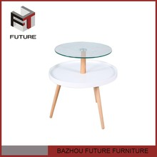2015 new design double layers coffee table