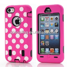 Cellphone hard case cover for iphone 5C dot design