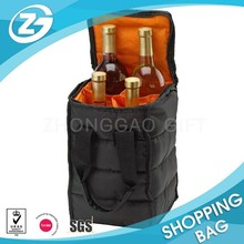 Deluxe 4 bottle Insulated Wine Cooler Tote Bag