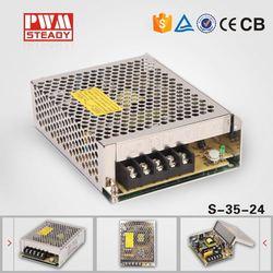 S-35-24 35W switching power supply transformer 220v 24v power supply,24v dc 100-240v ac power supply aluminium case
