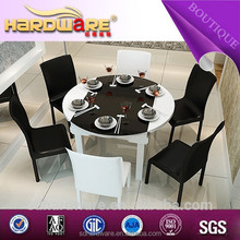 factory special offers round glass folding dining table