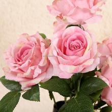 Artificial hibiscus rosa flores para decoração de casamento flores de charme