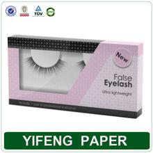 custom fashional colorful plastic paper false packaging eyelash box