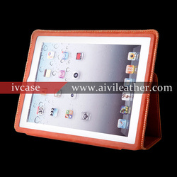 for apple iPad air /5 genuine leather wake sleep case,folio flip magnetic closure cover for iPad air 1