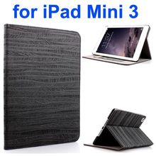 Tree Bark Texture Protective Flip Leather case for ipad mini 3 with card slots