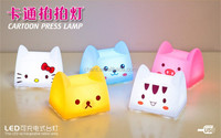Hot sale carton press lamp usb charging bed light/cute ABS PP modern style led table light