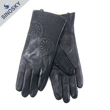Advertising high quality fashion sex girls leather glove