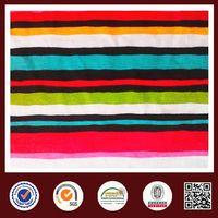 Feimei rainbow stripe knitted fabric cvc stripe knit fabric