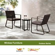 Hot selling aluminum frame white wicker kitchen chair