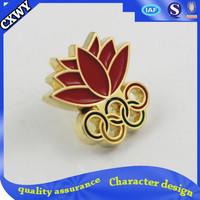 2015 custom sport button pin badge emblem for sale