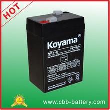 KOYAMA 4ah 6V weight scale lead acid battery ups battery