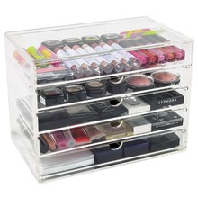 5 drawers counter top Acrylic makeup organizer beauty product for storage drawer
