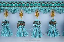 best sell wholesale decorative drapery tassel fringe,tassel fringe lace curtain