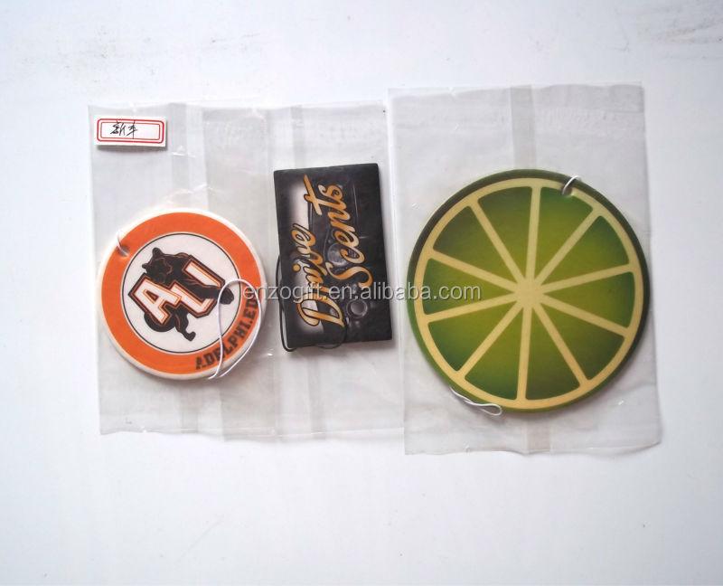 bulk car air freshener, promotion hanging paper freshener card, car paper perfume