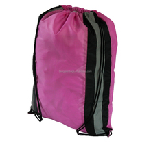 100% Polyester Safety Reflective Cinch Bag for sport