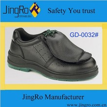 EN ISO 20345:2011 black genuine leather upper PU outsole and toe cap action safety shoes in China