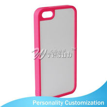 For Iphone 5 Sublimation Blank Phone Case 2D fashion smart phone case with lanyard