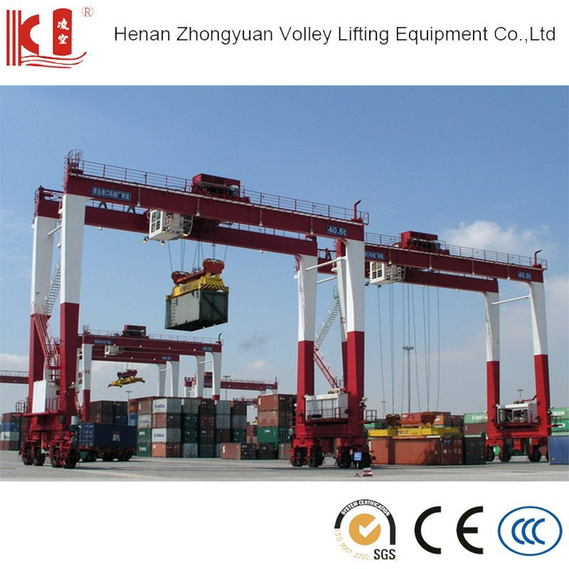 Rubber Tyred Gantry Cranes Translate : Port yard use rubber tyred container gantry crane buy
