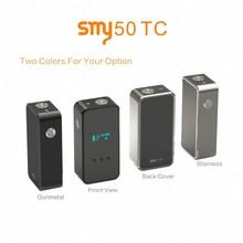 Alibaba best selling mod SMY50TC temp control vaporizer mod shipping via DHL VS SMY60 vapor mod &smy35 mini e-cig mod