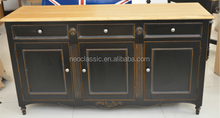 Modern Solid Wooden Cabinet with 3 Drawer 3 Door