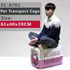 Original Deluxe Pet Carrier, Small & Medium Pets, Pink, Light Blue, Dark Blue, Orange