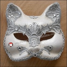 cat mask 2015 new fashion high-quality hard plastic Venetian masks Masquerade Party Painted Half Face cat Masks