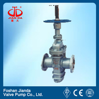 single disc flat gate valve with bank guiding hole