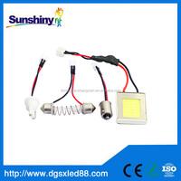 COB Chip led panel light 18led LED Car Interior Light T10 Festoon Dome cob led 12v led cob 3w 2 years warranty