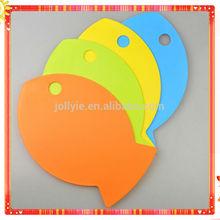 4 pesci colorati a forma di alimenti per bambini plastica del blocco di taglio set