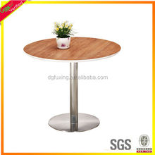 Small size wooden steel leg meeting table with the low price