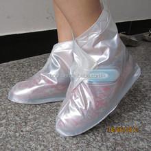 transpare 0.18mm pvc rain shoes cover,unisex overshoes cover
