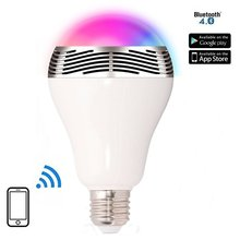 Timer+Group+Music+Speaker IOS Android RGBW Bluetooth Smart Led Bulb Lighting wedge base t10 led bulb