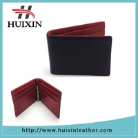 Black leather classical men wallet with best metal clip wallet