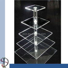 5 shelves Tower Acrylic Cake Display Stand