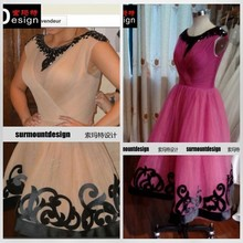 New Style Cap Sleeve Scoop Pleated Tulle Beaded Sleevesless Knee-length Party Dress For Sale