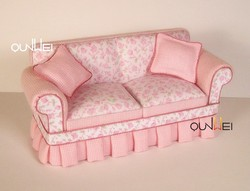 1/12 scale high quality mini cloth sofa,miniature furniture for dollhouse