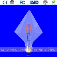 diamond led bulb, clear decoration light bulb E27 4W