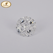 Round swastika grid white cubic zirconia gemstone wholesale